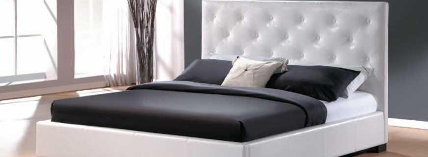 Популярные модели кроватей из экокожи, преимущества материала