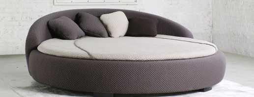 Разновидности круглых диванов, их преимущества и недостатки