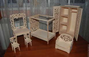 Варианты мебели для кукол, модели из фанеры и как ее сделать