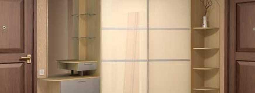 Виды угловых шкафов купе для прихожей, плюсы и минусы