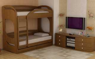 Разновидности и преимущества двухъярусных кроватей из деревянного массива