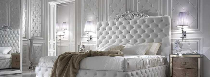 Возможные варианты кроватей каретной стяжкой, советы дизайнеров