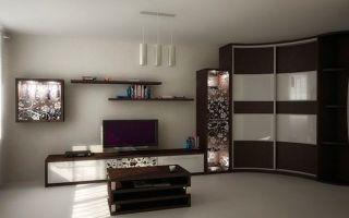 Как выбрать радиусный шкаф для гостиной, обзор моделей