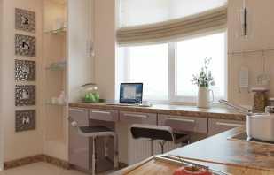Варианты использования стола-подоконника, его преимущества