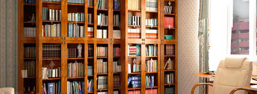 Какие бывают шкафы библиотеки, обзор моделей