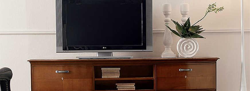 Какие бывают комоды для телевизора, основные рекомендации