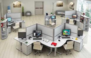 Варианты офисной мебели, модели для персонала