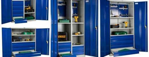 Критерии выбора шкафов металлических для инструментов, обзор моделей
