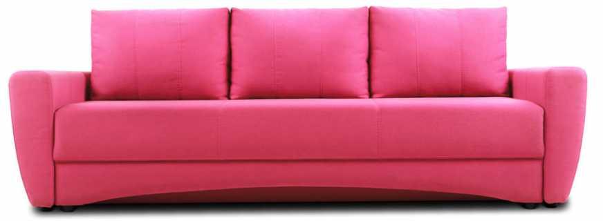 Особенности размещения розового дивана, сочетание с разными стилями