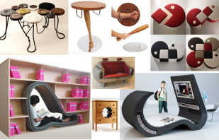 Варианты необычной мебели, дизайнерские изделия