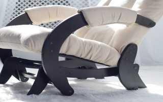 Пошаговое изготовление простого кресла-маятника из дерева или металла