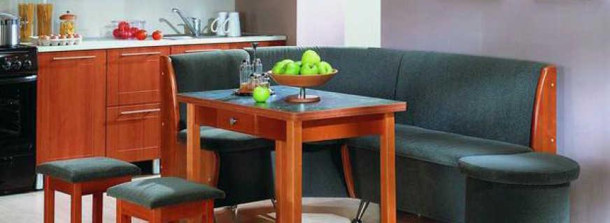 Как выбрать мягкую мебель на кухню, обзор моделей