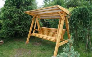 Разновидности деревянных качелей, советы по изготовлению своими руками