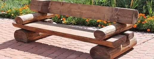 Современные конструкции садовых скамеек, изготовление своими руками