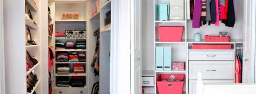 Советы по оформлению гардеробных комнат, отличающихся маленькими размерами