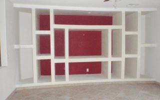 Изготовление мебели из гипсокартона, рекомендации от специалистов