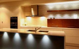 Разновидности встраиваемых мебельных светильников, нюансы установки