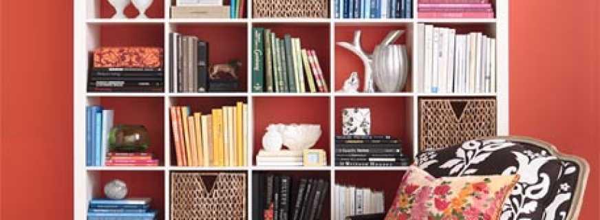 Обзор моделей шкафов для книг и стеллажей, и их особенности
