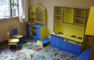 Виды игровой мебели в детский сад, основные требования