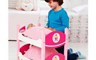 Популярные модели двухъярусных кроватей для кукол, советы по выбору