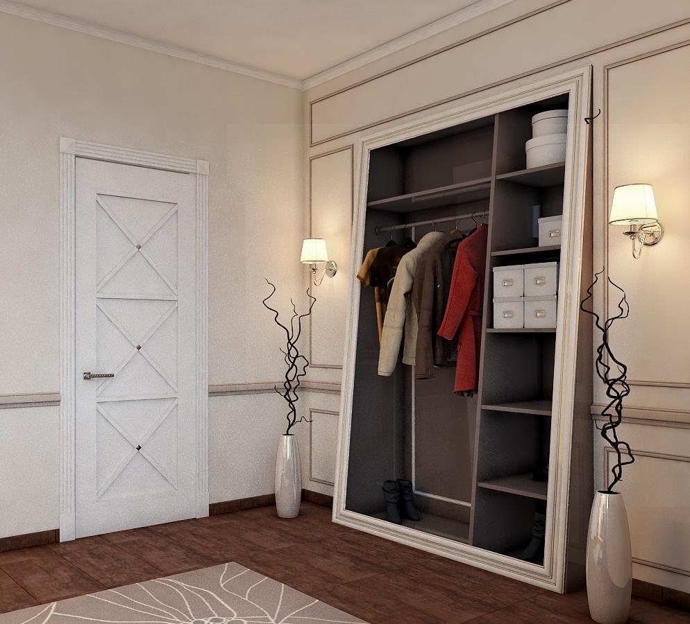 Дизайн белой прихожей в доме
