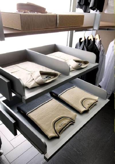 Как хранить рубашки в гардеробной