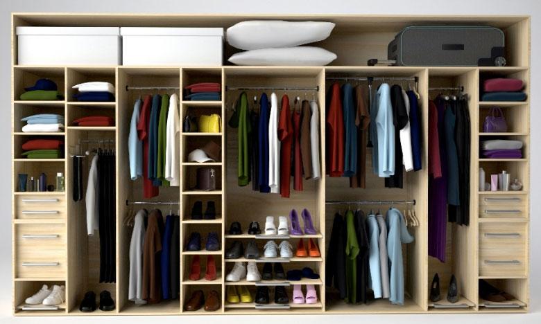 Как спланировать наполнение шкафа купе или гардеробной