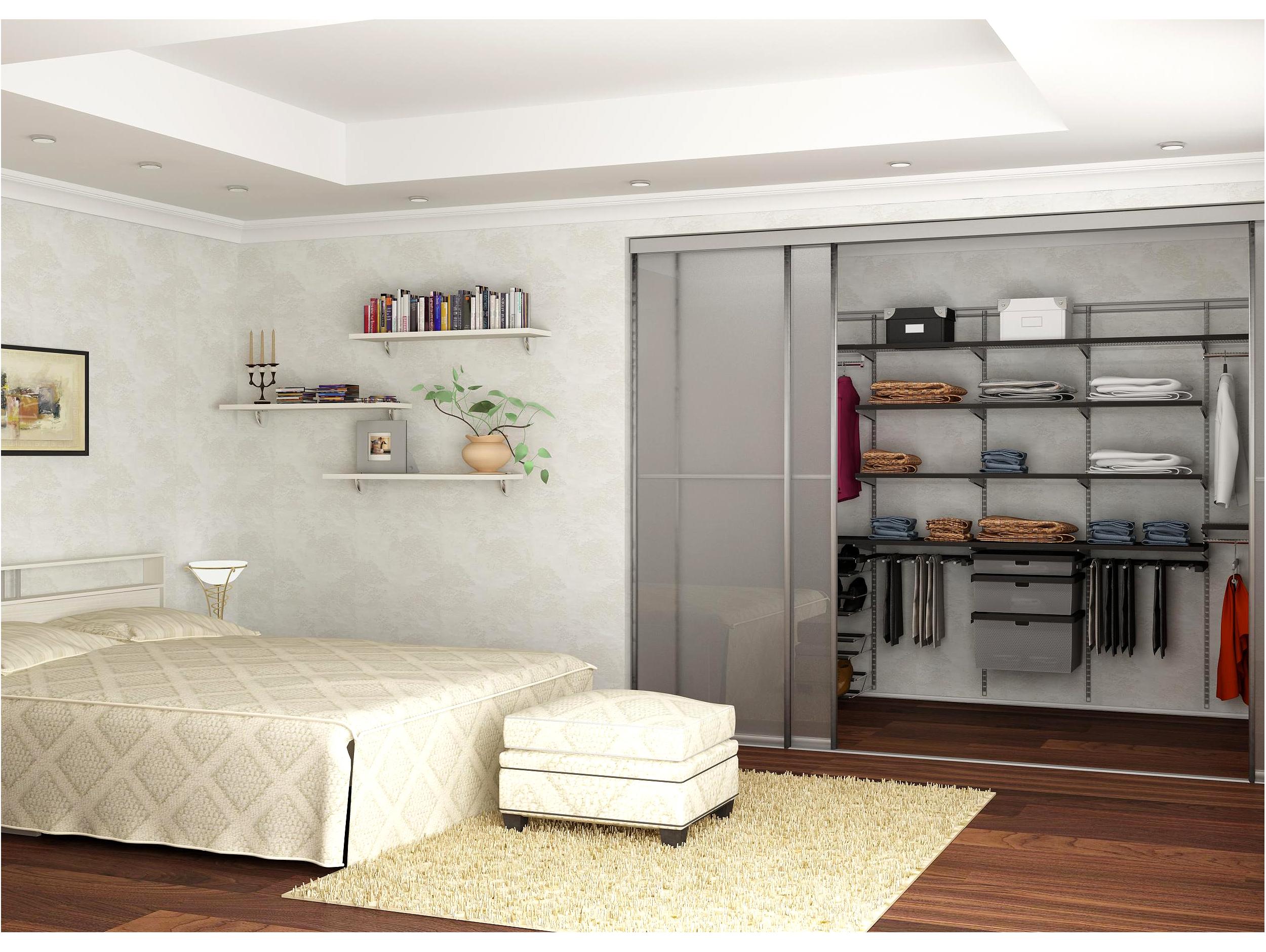Мини-гардеробная в спальне