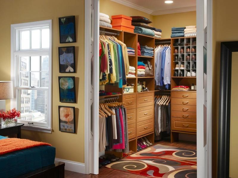 Мини гардеробная в спальне