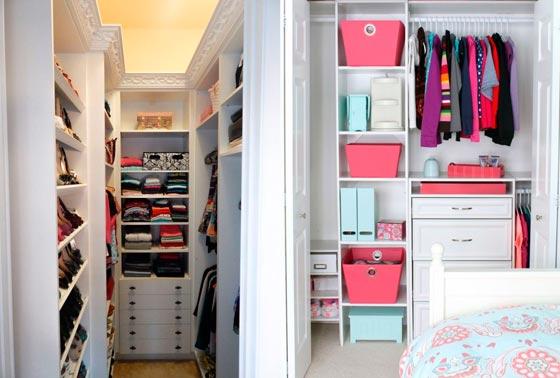 Небольшие гардеробные комнаты