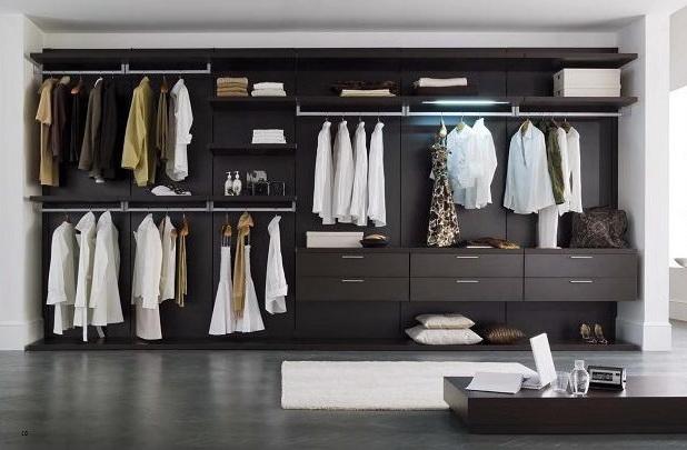 Открытый вид гардеробной