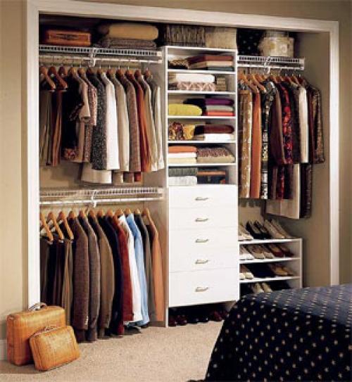 Панельный вид гардеробной
