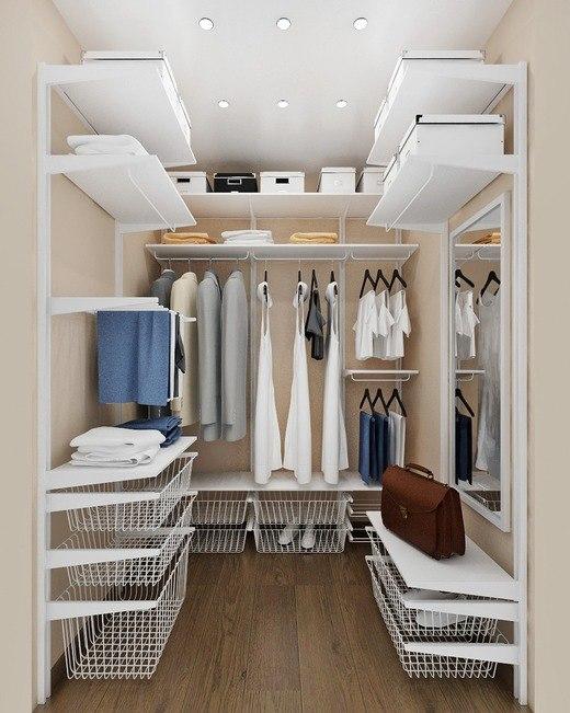 Прямоугольная гардеробная