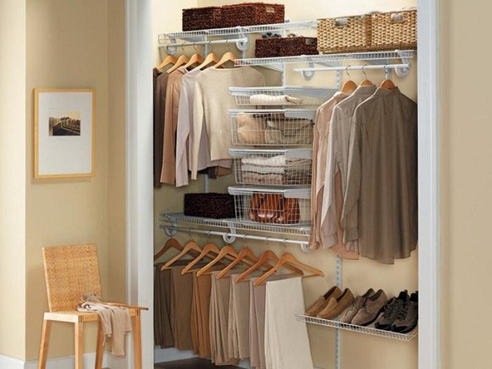 Способ крепления полок в гардеробной
