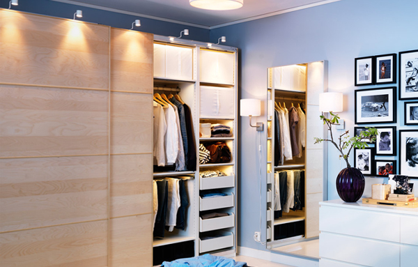 Светильники для гардеробной комнаты