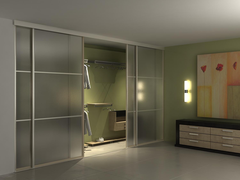 Встроенная гардеробная комната в спальне