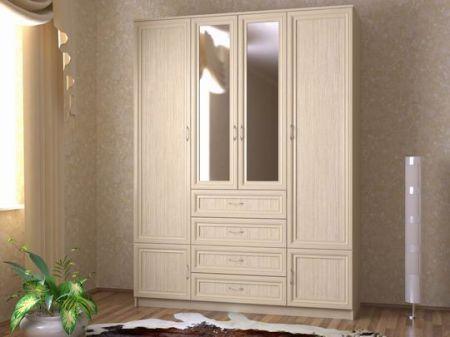 Аккуратная мебель цвета молочного дуба