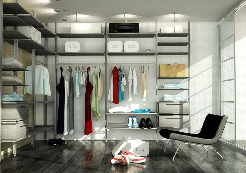 Алюминиевая сетчатая гардеробная комната