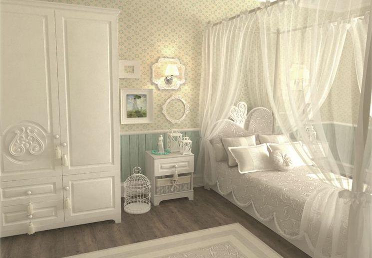 Белая мебель для детской комнаты выглядит нежно