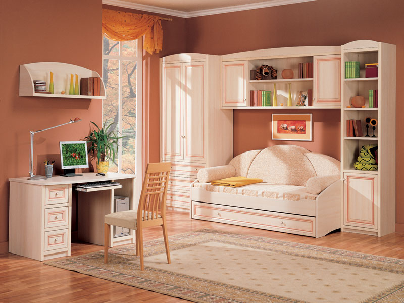 Белая мебель для детской спальни