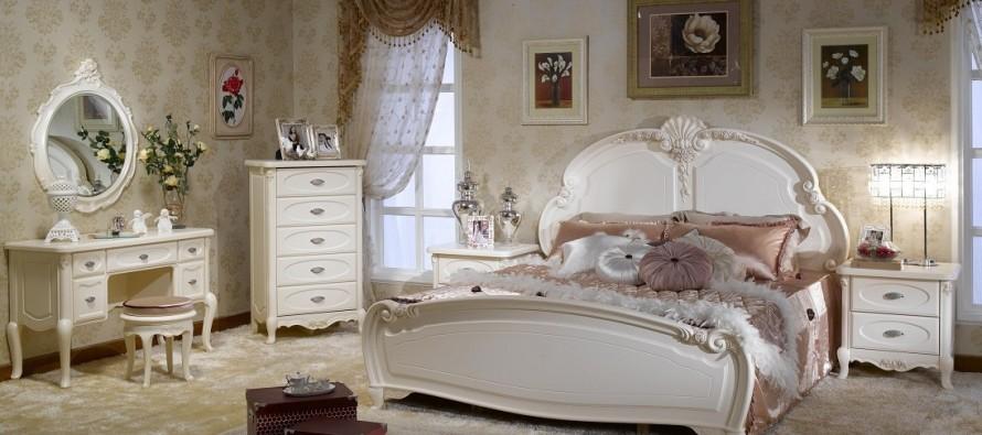 Белая мебель для спальни в стиле прованс