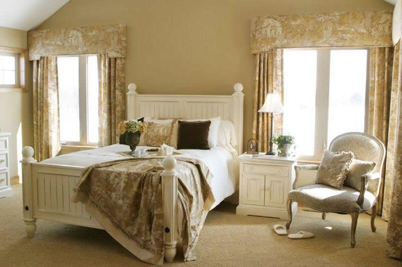 Белая мебель в стиле прованс для спальни