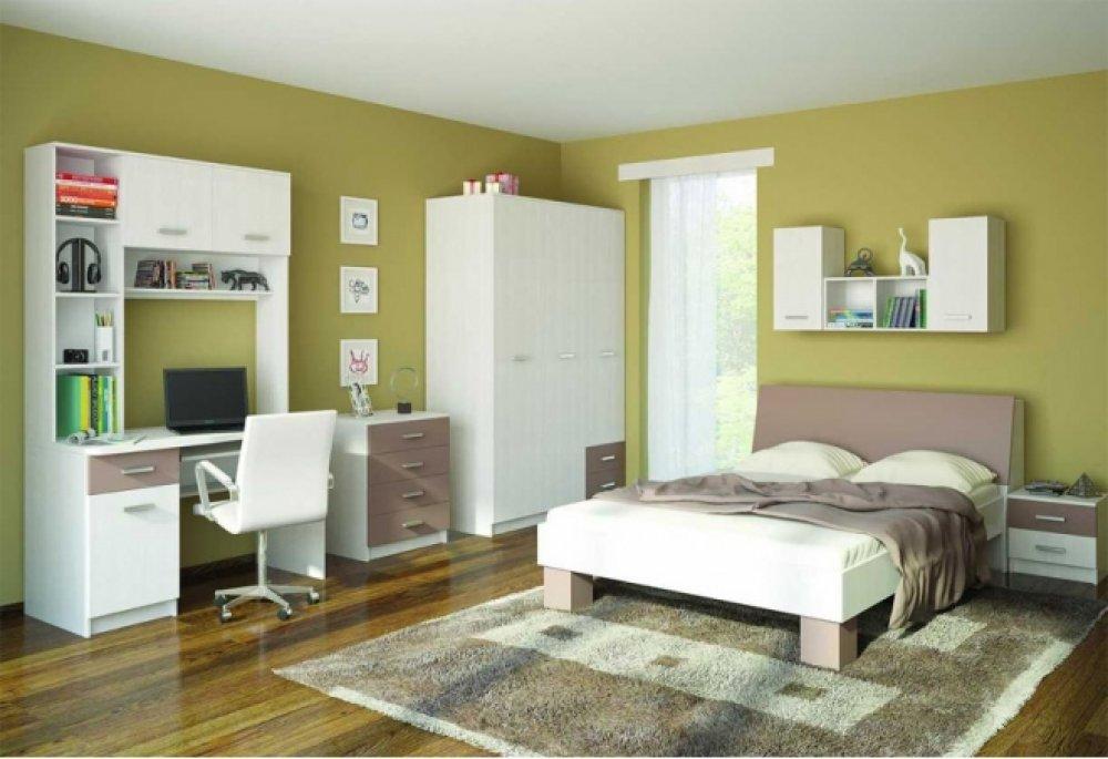 Белая модульная мебель для спальни