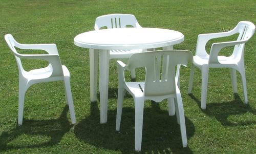 Белая садовая мебель