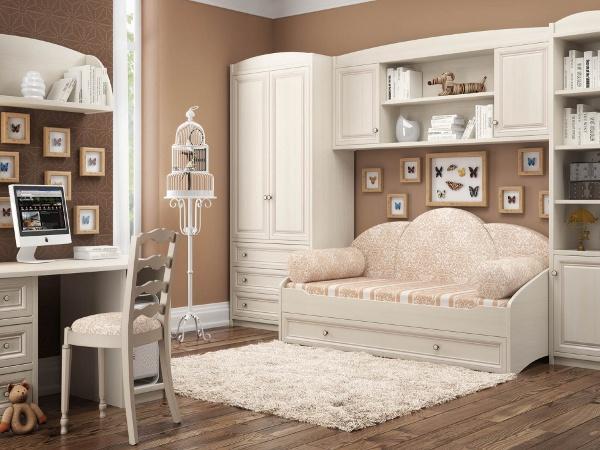 Белая подростковая мебель
