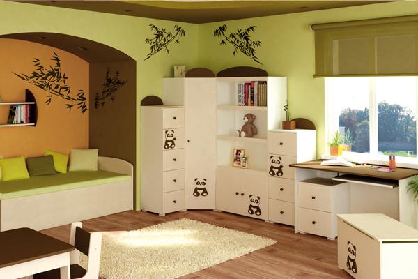 Белая тематическая детская мебель