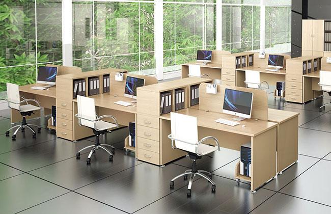 Бежевая мебель для персонала
