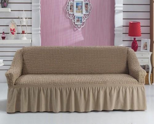 Бежевый чехол для мебели