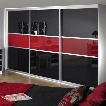 Черно-красная декоративная пленка для мебели