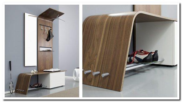 Деревянная мебель для маленькой прихожей